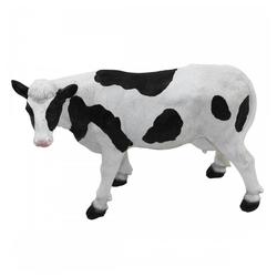 1PLUS Gartenfigur 1PLUS Polyresin Gartenfigur Mini Kuh Gartendekoration Größe (B x H x T): ca. 12 x 19,5 x 28 cm