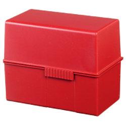 HAN Karteikartenbox DIN A6 400 Karten Rot 16,5 x 9,6 x 12,8 cm
