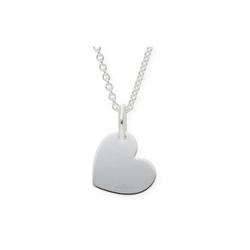 JuwelmaLux Collier Collier mit Herz 48 cm Silber 925/000