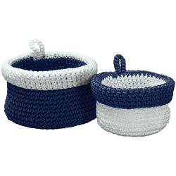 Kleine Wolke Aufbewahrungsbox, (2 St.) blau Kleideraufbewahrung Aufbewahrung Ordnung Wohnaccessoires Aufbewahrungsbox