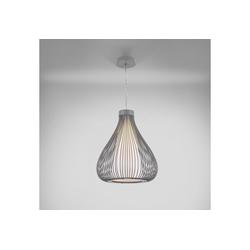 lux.pro Hängeleuchte, Moderne Hängeleuchte Nizza [Grau] mit Lampenschirm im Drahtkorb grau