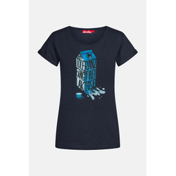 Derbe Laktose Damen T-Shirt Navy Dunkelblau