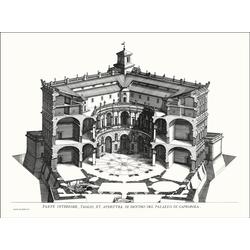 G&C Wandbild VILLA CAPRAROLA II, (1 Stück) 70 cm x 50 cm x 2,8 cm