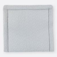 KraftKids Wickelauflage in Musselin grau Pusteblumen, Wickelunterlage 78x78 cm (BxT), Wickelkissen