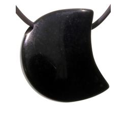 Adelia´s Kettenanhänger Mond Obsidian Anhänger