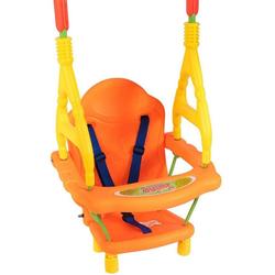COSTWAY Babyschaukel Schaukelsitz Babyschaukelsitz Kinderschaukel, mit Schaukelgerüst Rückenlehne, bis 25 kg belastbar
