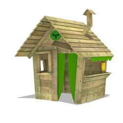 FATMOOSE Spielhaus HippoHouse Heavy XXL Kinderspielhaus Garten Spielgerät Holz mit Holzdach, Schornstein und breiter Ladentheke
