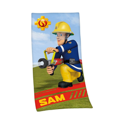 Herding Handtücher Strand- & Badetuch Feuerwehrmann Sam, 75x150 cm