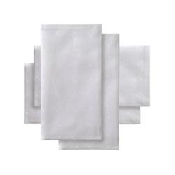 DDDDD Stoffserviette Quadrat, (Set, 4 St), Damast, 50x50 cm, mit kleinen dezenten Quadraten