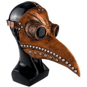Qeedio Schnabelmaske Plague Doctor Mask Halloween Scary Maske Pest Maske Doktor Arzt Kopfmaske Retro Felsen Party Masken Steampunk Halloween Kostüm Dekoration für Maskerade und Neujahr
