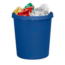 helit Papierkorb 18,0 l blau