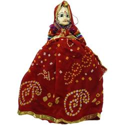 Guru-Shop Dekofigur Rajasthan Marionettenpuppe - Aruna Jaipur rot