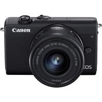 Canon EOS M200 schwarz + 15-45 mm IS STM schwarz