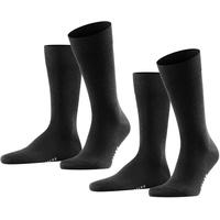 Falke Socken 2er-Pack, schwarz 43-46