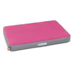 Doctor Bark orthopädische Hundematratze, M / hot pink - hellgrau (ca. 80x60x8cm)