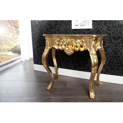 Casa Padrino Konsolentisch Gold 85 cm - Barock Konsole Möbel - Konsolen Tisch