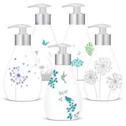 Frosch Reine Pflege Sensitiv-Seife, Cremeseife / Pflegeseife, 1 Karton = 6 x 300 ml - Designflasche, Motive nicht frei wählbar
