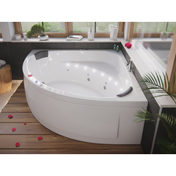 Emotion Whirlpool-Badewanne Deluxe Whirlpool TITAN ULTRA mit LED-Beleuchtung (L/B/H) 155/155/69,5 cm