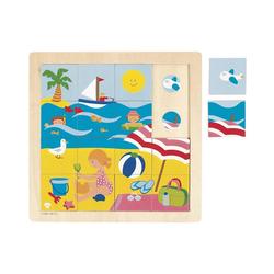 Goula Puzzle Holzpuzzle 16 Teile Sommer, Puzzleteile