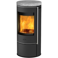 Fireplace Rondale Stahl gussgrau/Speckstein