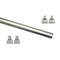 Schiebegardine Profil zum Klipsen silber 60 cm, GARDINIA