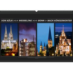 Von Köln nach Königswinter (Wandkalender 2021 DIN A2 quer)
