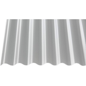 Polycarbonat Wellplatten Profilplatten Sinus 76/18 wabe Struktur klar 2,8 mm (2500 x 1045 x 2,8 mm)