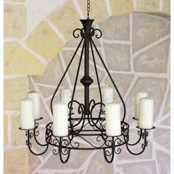 DanDiBo Kronleuchter Kronleuchter 101318 Hängeleuchter D-60 cm Deckenleuchter Kerzenständer Kerzenhalter aus Metall braun