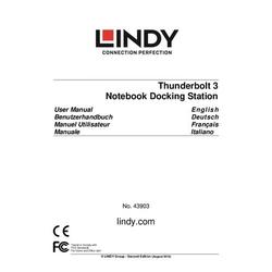 Lindy Thunderbolt 3 Notebook Docking Sta