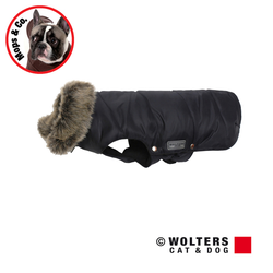 Wolters Parka mit Fellkragen für Mops & Co. schwarz