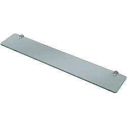 WELLTIME Wandablage Glasablage/ Glasregal, Breite 60 cm grau