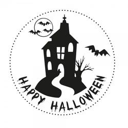 Halloween Holzstempel - Haus (Ø 40 mm)