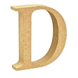 """VBS Buchstaben """"MDF"""" 8 cm x 1,5 cm bunt Buchstabe """"D"""""""
