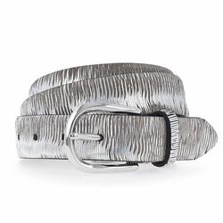 b.belt Cuna Gürtel Leder silber metallic 80 cm