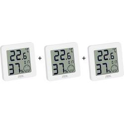 ADE WS 1706 Thermo-/Hygrometer Weiß 3er Set