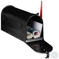 Relaxdays Briefkasten US Mailbox Postkasten schwarz