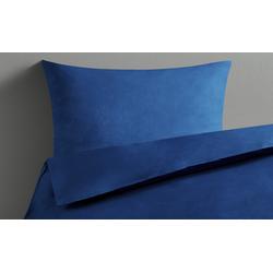 Basispreis* LAVIDA Bettwäsche  Uni Satin ¦ blau ¦ reine Baumwolle ¦ Maße (cm): B: 135