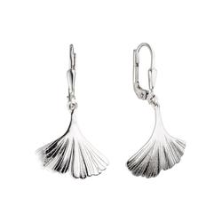 JOBO Paar Ohrhänger Ginkgo, 925 Silber