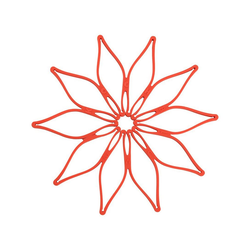 Kochblume Topfuntersetzer Vario, Hitzebeständig bis 230° rot
