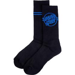 Socken SANTA CRUZ - Opus Dot Stripe Crew Sock Black (BLACK)