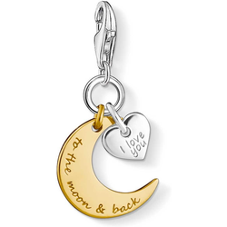 Thomas Sabo Mond & Herz I LOVE YOU TO THE MOON & BACK 1443-413-39 Charm Anhänger