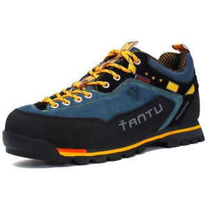 Showlovein Herren Wanderschuhe High Top Trekking-Schuhe rutschfeste Atmungsaktive Wanderschuhe Trekking & Hiking Shoes (43 EU, Orange)