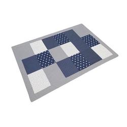 ULLENBOOM® Patchworkdecke Blaue Sterne 140 x 200 cm