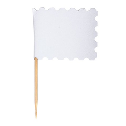 Flaggenpicker weiß, 10 Stück