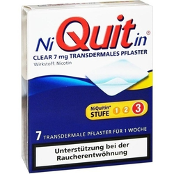 NIQUITIN Clear 7 mg transdermale Pflaster 7 St.