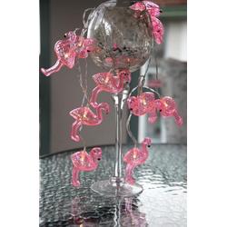 STAR TRADING LED-Lichterkette LED Lichterkette Flamingo 10 pinke Flamingos warmweiße LED Batterie Timer pink, 10-flammig