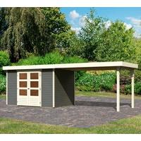 Woodfeeling Gartenhaus Askola 4, BxT: 592x238 cm, (Set)