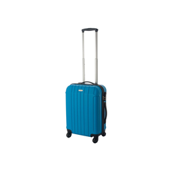 Cahoon Handgepäck-Trolley Hartschalen-Trolley Handgepäck Trolley / Bordgepäck Koffer 4-Rollen, 4 Rollen blau