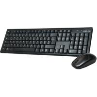 Logilink Wireless Tastatur DE Set schwarz (ID0104)