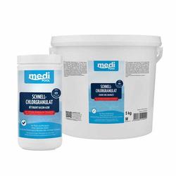 mediPOOL SchnellChlor Granulat Chlorgranulat Aktivchlor Poolreinigung Poolpflege - Inhalt:1 kg